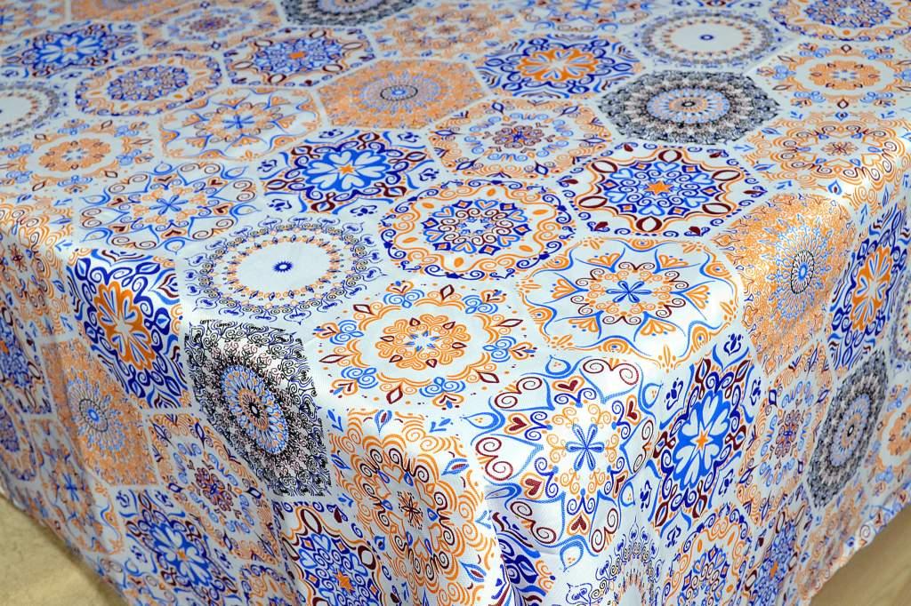 Toalha de Mesa Oxford - Estampa Azulejo