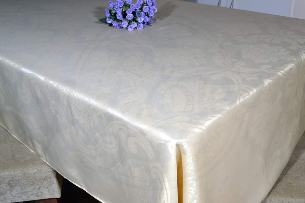 Toalha de Mesa Retangular Jacquard - Bege