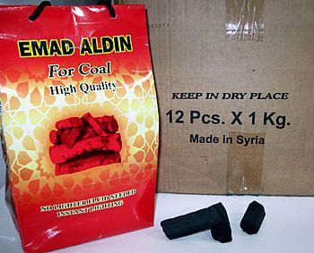 Carvão natural tipo triângulo para Narguile (caixa com 12kg) SUPER PROMOÇÃO