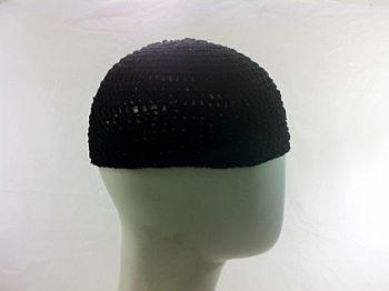 Gorro Islâmico de crochê preto (Takia) cod.007