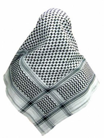 Lenço Palestino, Kafieh, Shemagh tradicional (Preta) cod.26