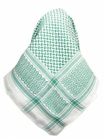 Lenço Palestino, Kafieh, Shemagh, de alta textura (Verde) cod.34