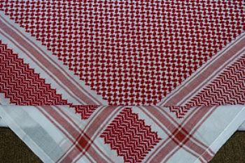 Kafieh de luxo com franja (Vermelha) -cod.28
