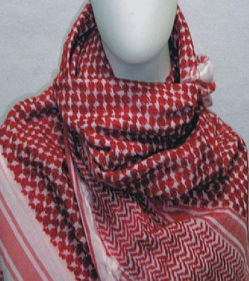 Kafieh Rústica (Vermelha), modelo que deu início à moda na Europa -cod.27