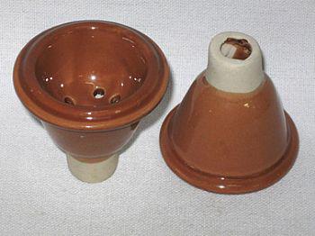 Recipiente para tabaco de cerâmica, tipo macho - cod.875
