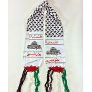 """Cachecol Palestino estampado (""""Jerusálem é Nossa. E para Ela voltaremos"""")  cod.327"""