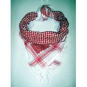 Kafieh de luxo com franja, alta textura (Vermelha) -cod.31