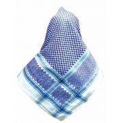Lenço Palestino, Kafieh, Shemagh,  de alta textura (Azul) cod.35