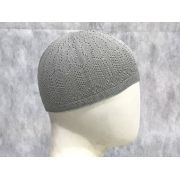 Gorro Islâmico de crochê (takia, kufi) cor cinza