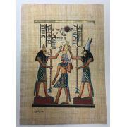 Papiro Egípcio original com temas Faraônicos – Ref.57