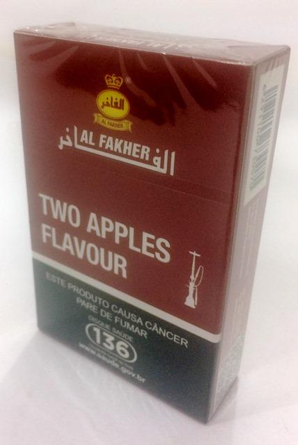 Essência Aromatizada / Tambac (DUAS MAÇÃS) Caixa com 50g Marca Al Fakher