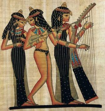 Papiro Egípcio original com temas Faraônicos – Ref.72