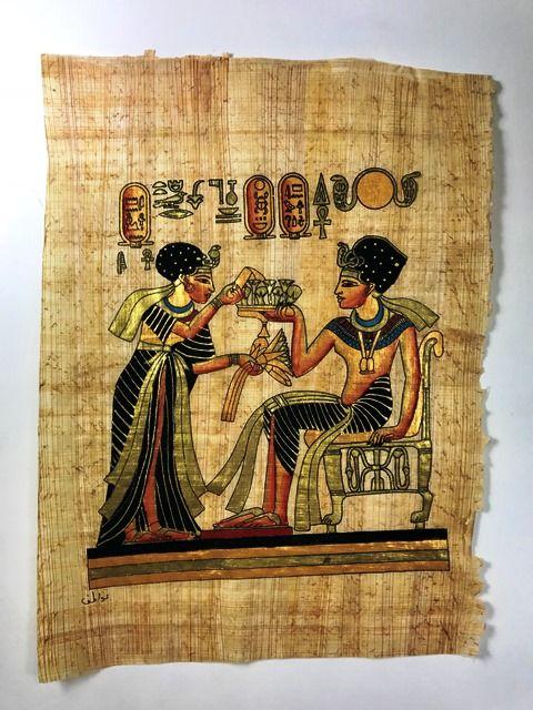 Papiro Egípcio original com temas Faraônicos – Ref.74