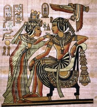 Papiro Egípcio original com temas Faraônicos – Ref.75