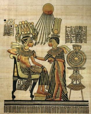 Papiro Egípcio original com temas Faraônicos – Ref.76