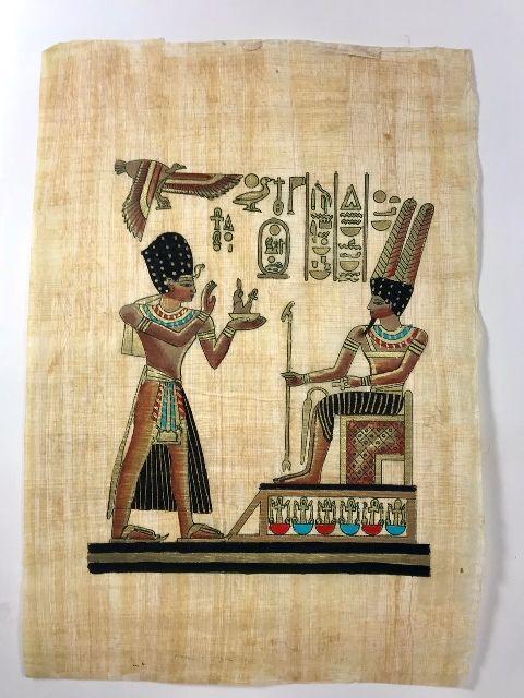 Papiro Egípcio original com temas Faraônicos – Ref.77