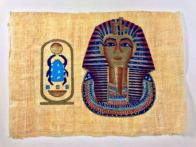 Papiro Egípcio original com temas Faraônicos – Ref.83