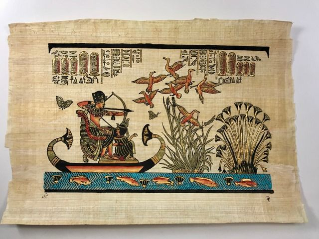 Papiro Egípcio original com temas Faraônicos – Ref.96