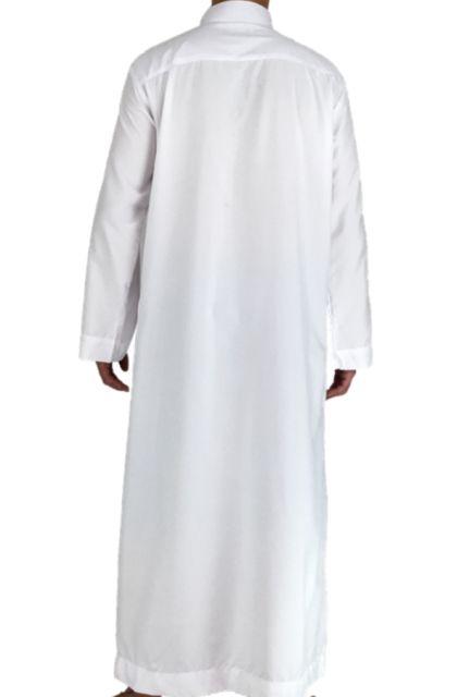 Roupa árabe masculina, Dishdasha, Thobe, modelo com gola