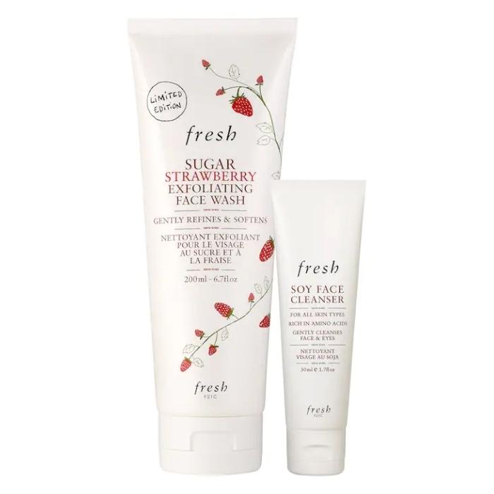 Fresh Kit Soy Mini + Strawberry Jumbo Cleansing Set