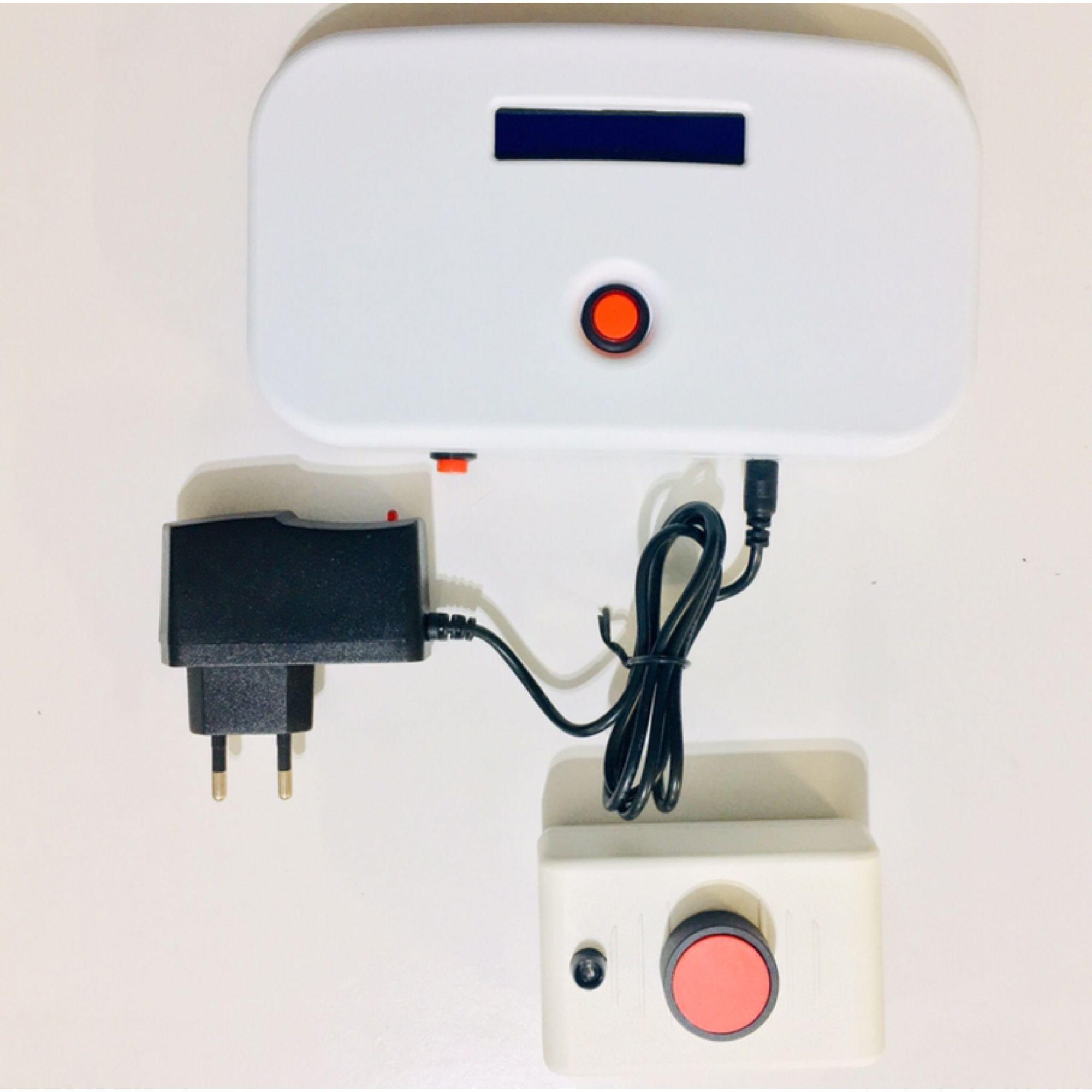 Alarme Audiovisual WIFI - MODELO MIL02 - para Banheiro PNE /PCD - CADEIRANTE - IDOSO - DESABILITADO -  sem fio  COM 01 botoeira - APROVADO ABNT