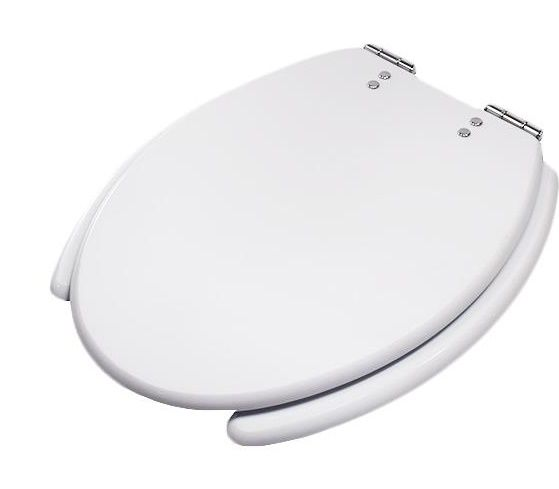 Assento  Acesso Confort  COM ABERTURA FRONTAL -Cor branca  em mdf laminado. Para Deficiente, Cadeirante ou Idoso.
