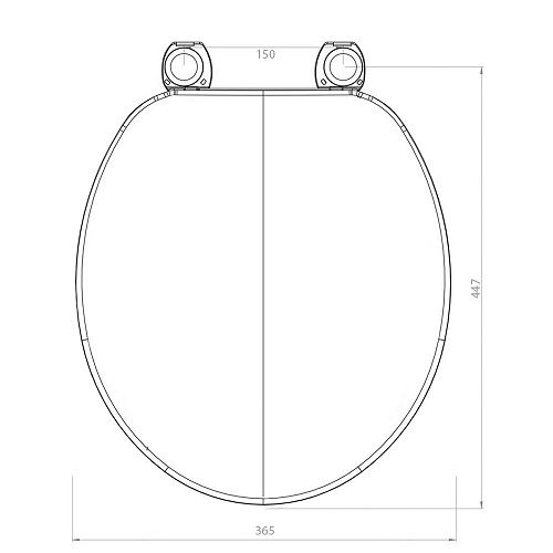 Assento Alina  / Aries / Oval Convencional BRANCO Tupan - DURAGARD - PP -  para Louça Eternit