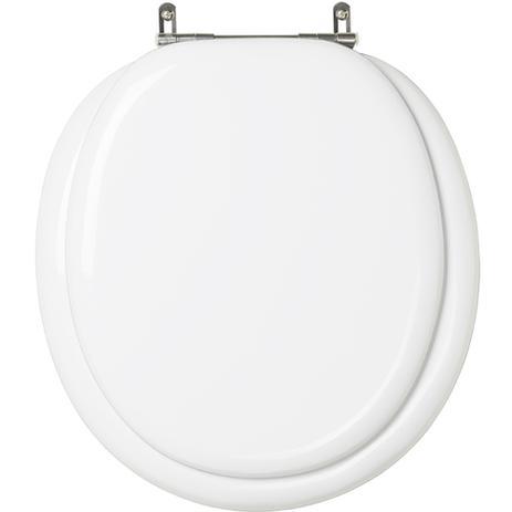 Assento Almofadado Luxo - Branco para louça Ravena / Oval Convencional Deca