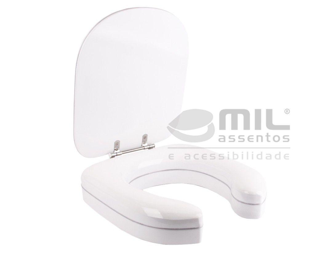Assento Altura 7 Cm MONTE CARLO Branco ALMOFADADO - Fabricamos para TODOS OS MODELOS E CORES DE VASOS SANITÁRIOS.. Para Deficiente, Cadeirante ou Idoso. ALÍVIO para Scaras!