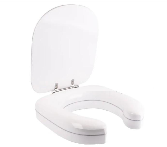Assento Altura 7 Cm SABATINI Branco ALMOFADADO - Fabricamos para TODOS OS MODELOS E CORES DE VASOS SANITÁRIOS.. Para Deficiente, Cadeirante ou Idoso. ALÍVIO para Scaras!