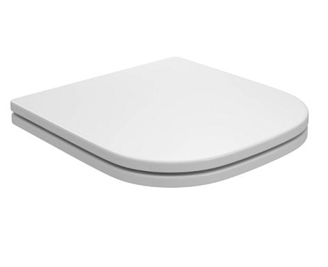 Assento BOUTIQUE Soft-Close Poliéster/Acrílico Boss para Incepa Bege Matte com Ferragem Cromada