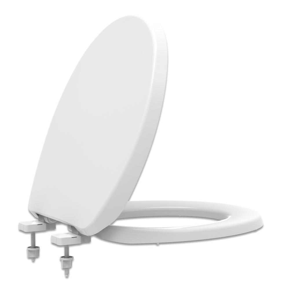 Assento Branco Universal Solution Polipropileno  SOFT-CLOSE  Para Bacia Izy Conforto Com Caixa Acoplada - P115