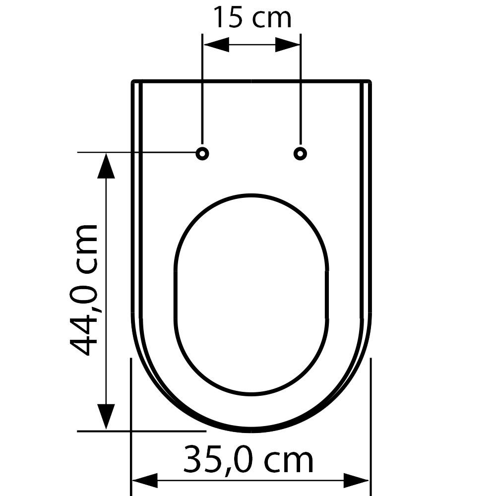Assento Carrara Poliéster/Acrílico; para Deca.