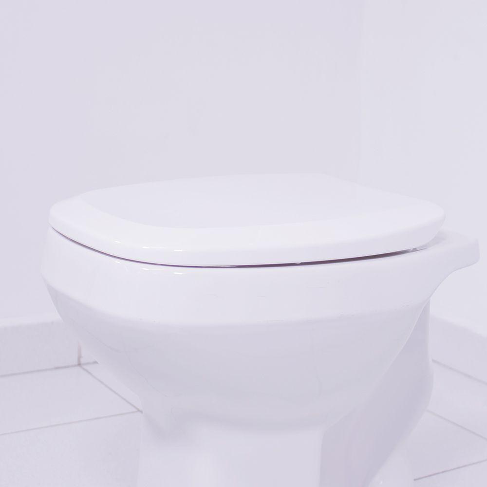 Assento  City / Like Branco Tupan PP Branco para Celite com Fechamento Suave