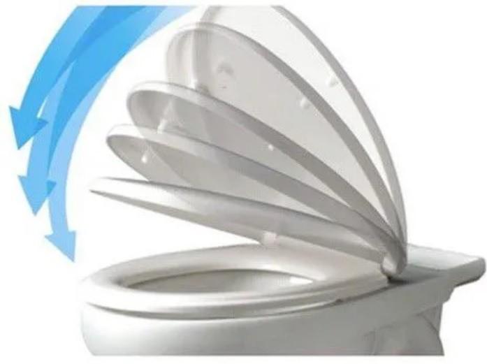 Assento  City / Like Soft-Close Pergamon Tupan PP Branco para Celite com Fechamento Suave