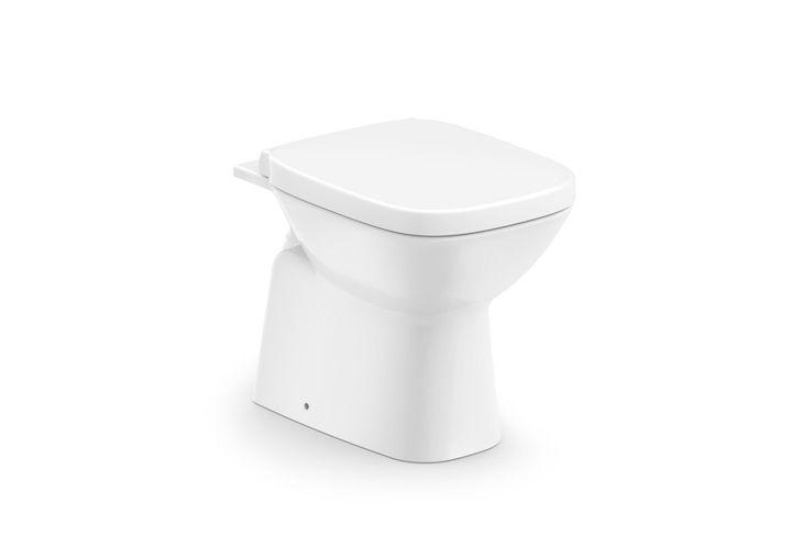 Assento Debba Poliéster/Acrílico cor branca para Louça Roca.