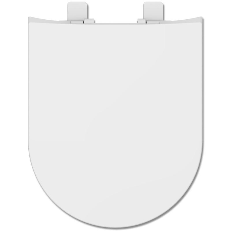 Assento DUOL HAPPENING SOFT-CLOSE LUXO TERMOFIXO Branco Tupan Roca com Fechamento Suave.