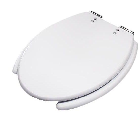 Assento Izy Branco COM ABERTURA FRONTAL - em mdf laminado. Para Bacia Izy Conforto Com Caixa Acoplada - P115