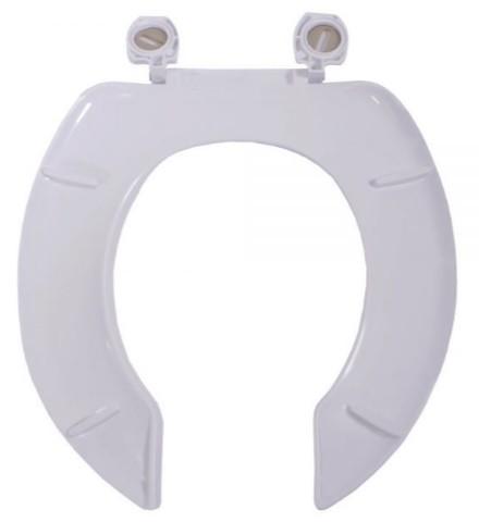 Assento Izy Branco  Duraguard. Polipropileno - Com Abertura Frontal e Sem Tampa Para Bacia Izy Conforto Com Caixa Acoplada - P115