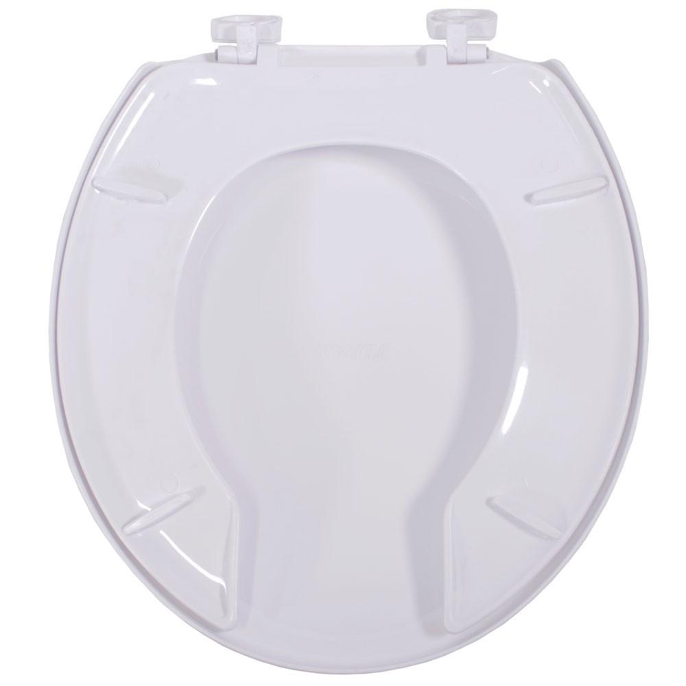 Assento Izy Branco  Duraguard.Polipropileno - Com Abertura Frontal Para Bacia Izy Conforto Com Caixa Acoplada - P115