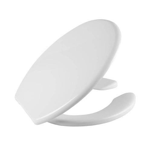 Assento Izy  COM ABERTURA FRONTAL - COR BRANCA Almofadado SUPER-LUXO. Para Bacia Izy Conforto Com Caixa Acoplada - P115