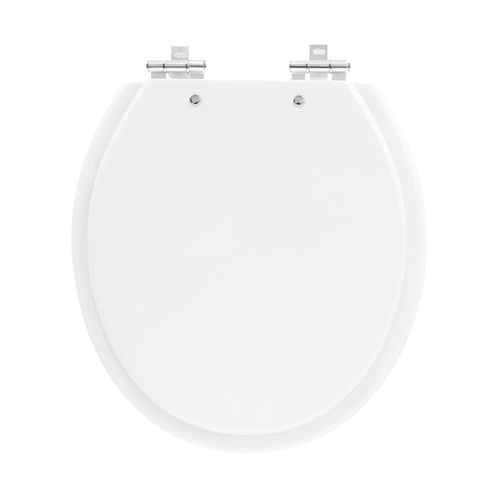 Assento Laqueado Branco Para Bacia Izy Conforto Com Caixa Acoplada - P115