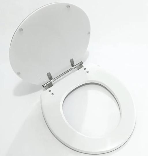 Assento Laqueado Zip / Oval Convencional MDF Laqueado para Incepa.