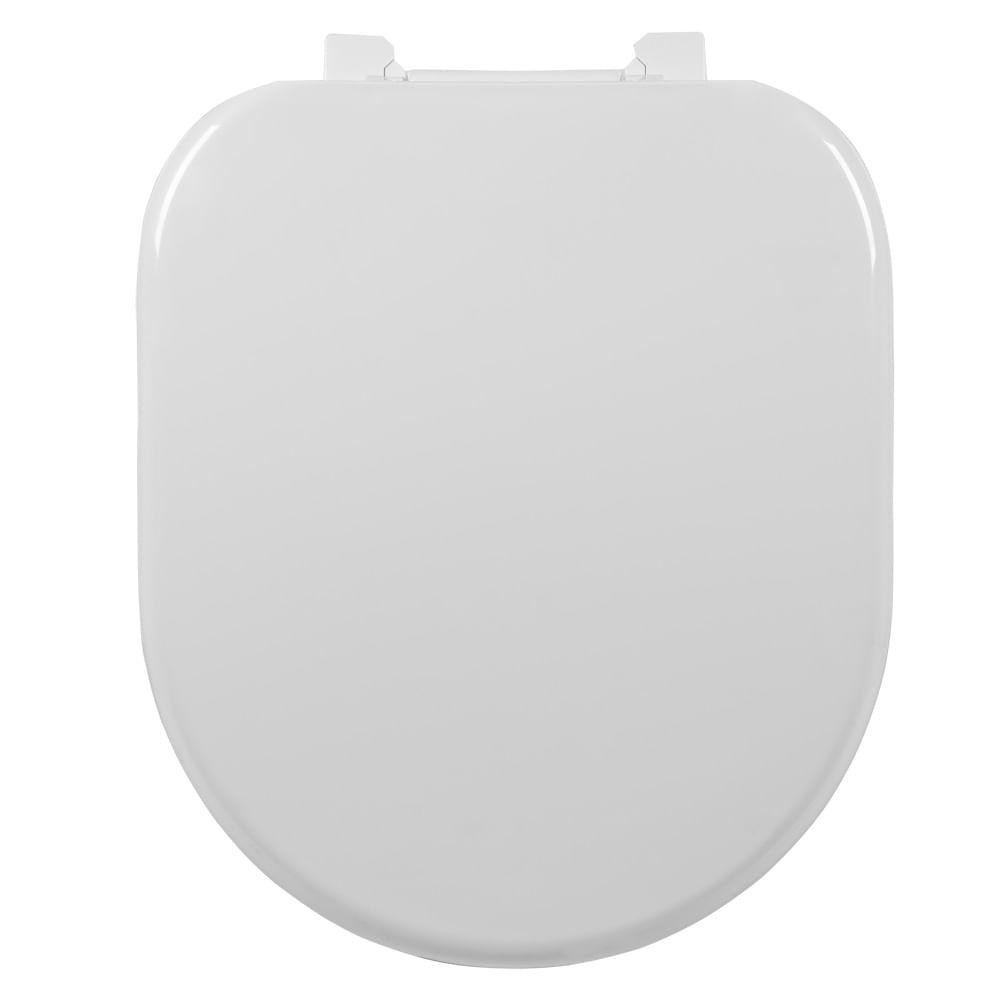 Assento Level Almofadado Sintético Astra Branco; para  Louça da Deca.