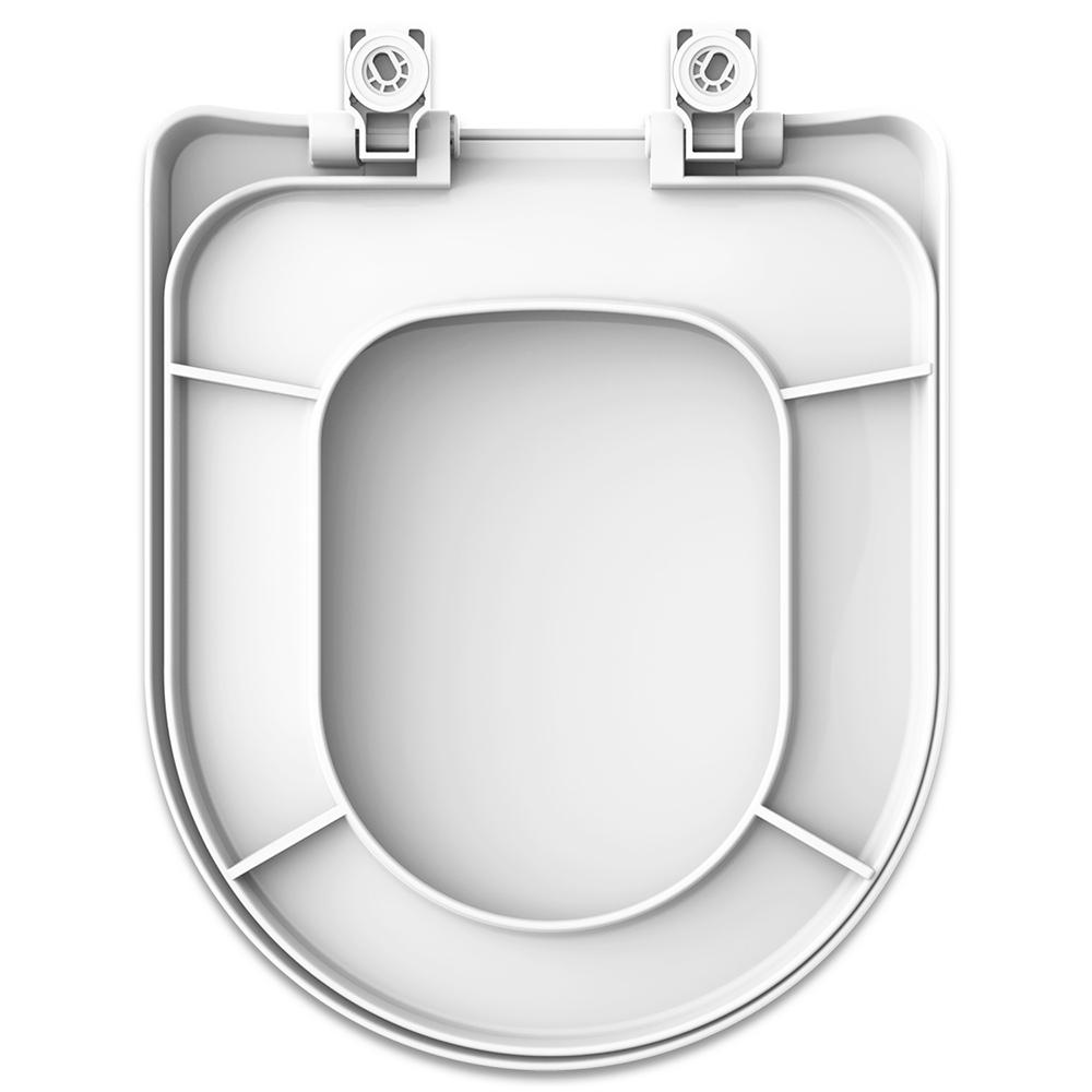 Assento Luna Speciale SOFT-CLOSE Branco Tupan PP -  com Fechamento Suave para Louça Icasa