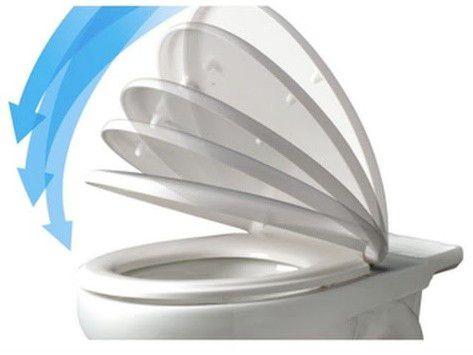 Assento MERIDIAN SOFT-CLOSE Tupan PP para Roca com Fechamento Suave