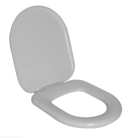 Assento Omega Almofadado Sintético Astra Branco; para  Louça da Deca.