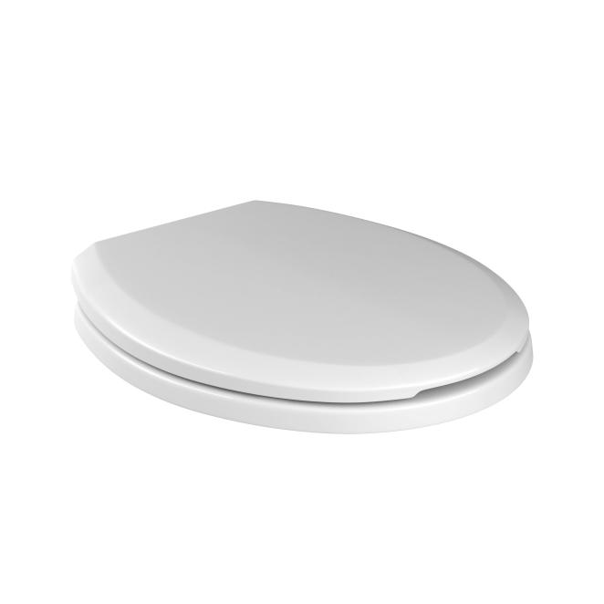 Assento Plástico Com Soft Closet  AP165  Convencional Branco Para Bacia Izy Conforto Com Caixa Acoplada - P115