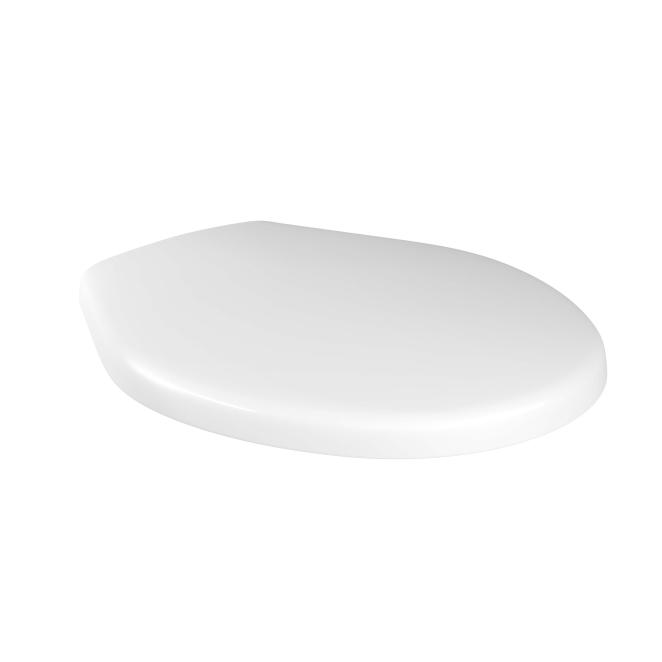 Assento Plástico Oval Convencional Branco Para Bacia Izy Conforto Com Caixa Acoplada - P115