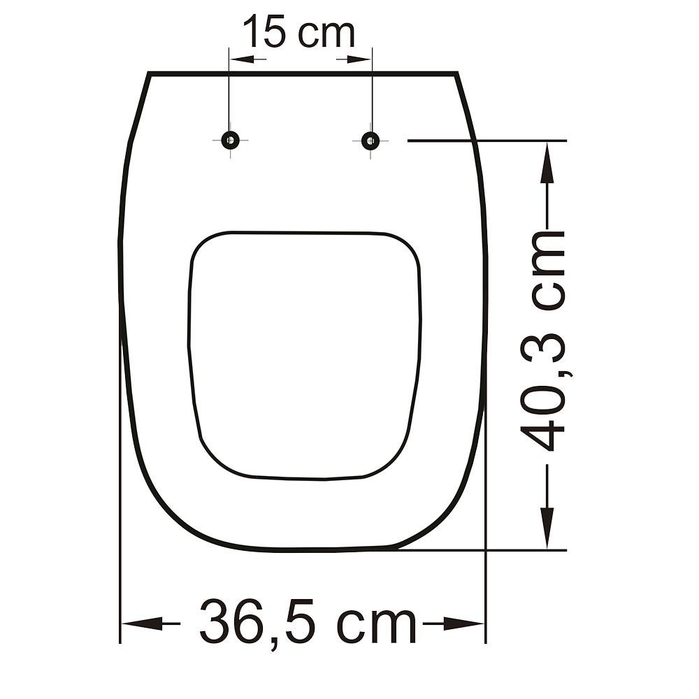 Assento Poliéster/Acrílico Flex para Deca